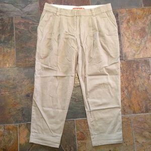 cartonnier ANTHROPOLOGIE khaki capri pants S 2 4